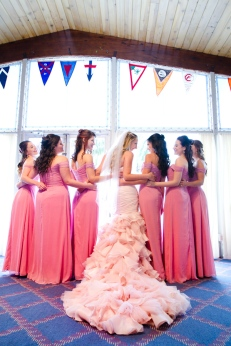 Couture Pink Ombre Bridal Gown South Florida Wedding Photographer Lighthouse Point Yacht Club wedding photographer