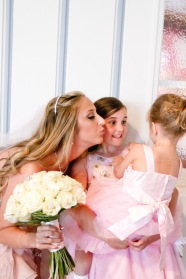 Pink flower girl dresses Couture Pink Ombre Bridal Gown South Florida Wedding Photographer Lighthouse Point Yacht Club wedding photographer