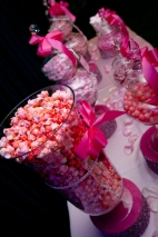 Pink popcorn for candy table Couture Pink Ombre Bridal Gown South Florida Wedding Photographer Lighthouse Point Yacht Club wedding photographer
