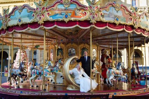 Carousel Wedding Portraits New Years Wedding In Florence Best wedding locations in Firenze