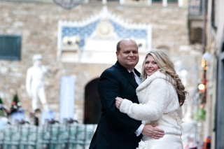 Wedding Portraits near the David New Years Wedding In Florence Best wedding locations in Firenze