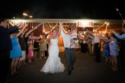 Sparkler barn exit Country Barn Wedding Jacksonville Florida Venue