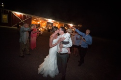 Barn exit with sparklers Country Barn Wedding Jacksonville Florida Venue