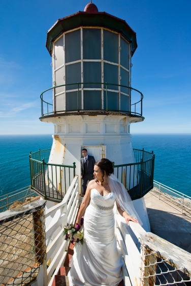 Lighthouse wedding portraits Best San Francisco wedding locations San Fran Wedding photographer