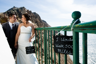I would walk 500 miles photo Lighthouse wedding portraits Best San Francisco wedding locations San Fran Wedding photographer