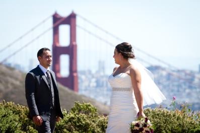 Golden Gate bridge wedding photos Lighthouse wedding portraits Best San Francisco wedding locations San Fran Wedding photographer