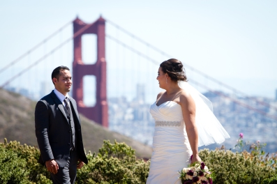 Golden Gate bridge wedding photos Lighthouse wedding portraits Best San Francisco wedding locations San Fran Wedding photographer