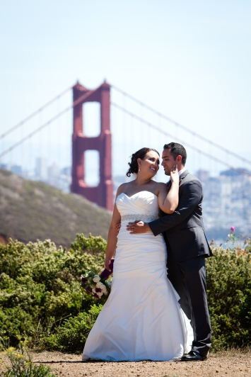 Golden Gate Bridge Lighthouse wedding portraits Best San Francisco wedding locations San Fran Wedding photographer