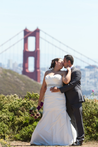 Golden Gate Bridge Lighthouse wedding portraits Best San Francisco wedding locations San Fran Wedding photographer