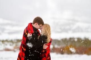 Near Breckenridge Colorado Snowy Swan Mountain Colorado engagement photo session