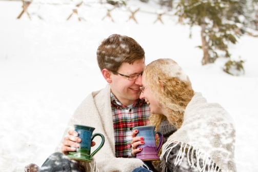 Props for a Snowy Swan Mountain Colorado engagement photo session