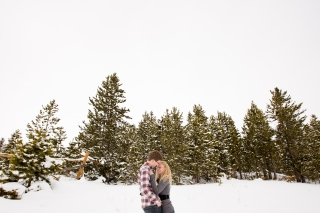 Best Breckenridge engagement location Snowy Swan Mountain Colorado engagement photo session