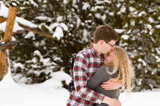 Breckenridge Engagement Locations Snowy Swan Mountain Colorado engagement photo session