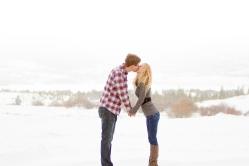 Romantic Snowy Swan Mountain Colorado engagement photo session