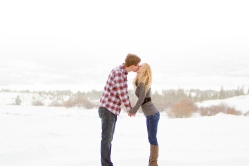 Romantic Snowy Swan Mountain Colorado engagement photo session
