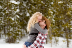 Hairstyles for a Snowy Swan Mountain Colorado engagement photo session