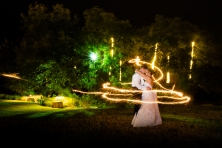 Night Wedding at Camp Lucy Austin Texas