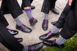 Groomsmen socks Crazy Fun New Orleans Wedding at Il Mercato