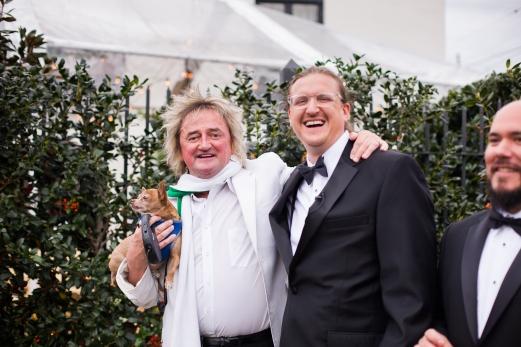 Rod Stewart look alike Crazy Fun New Orleans Wedding at Il Mercato