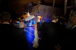 Second Line Night Photography Crazy Fun New Orleans Wedding at Il Mercato