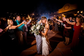 Best Sparkler exits with bouquet Best Houston Wedding Venue Photographer