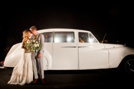 Vintage car getaway with magnet mod Best Houston Wedding Venue Photographer