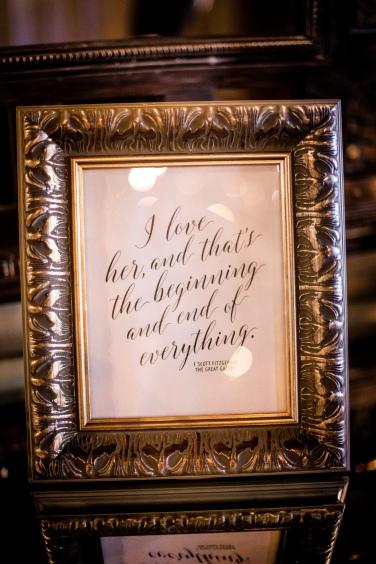 Wedding quote frames Best Houston Wedding Venue Photographer