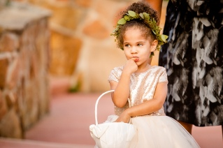 flower girl greenery crown Best Houston Wedding Venue Photographer