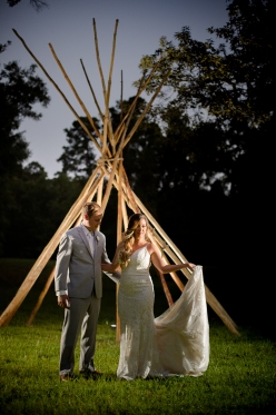 Teepee wedding portraits Best Houston Wedding Venue Photographer