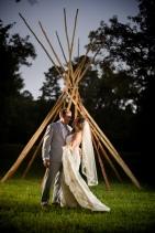 Night portrait teepee boho wedding photos Best Houston Wedding Venue Photographer