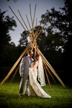 Night portrait teepee boho wedding photos Best Houston Wedding Venue Photographer