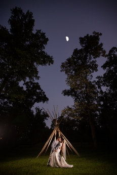 Teepee Wedding night portraits Best Houston Wedding Venue Photographer