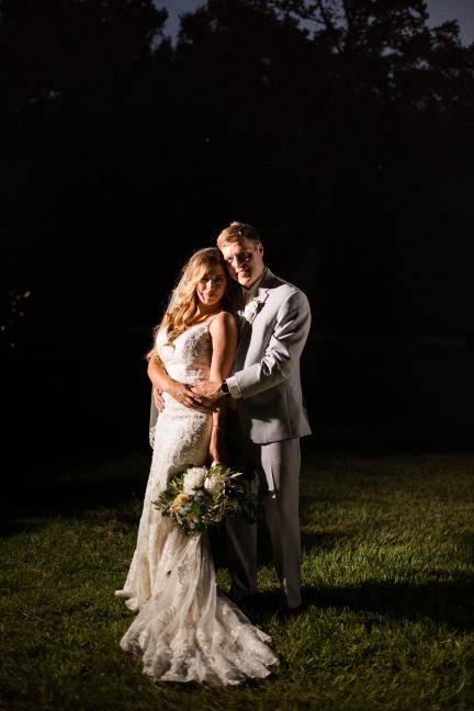 Night portrait with magma Best Houston Wedding Venue Photographer