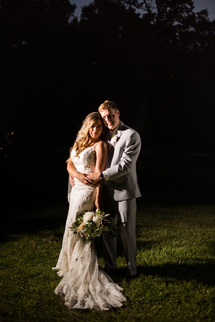 Night portrait with magma Best Houston Wedding Venue Photographer