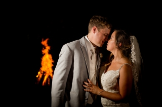 wedding portraits with fire and magnet mod Best Houston Wedding Venue Photographer