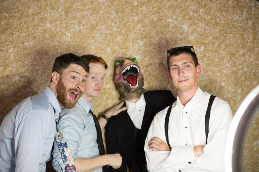 Wedding Photo booth props Rainey Street Austin Wedding at Hotel Van Zandt Made with Magmod