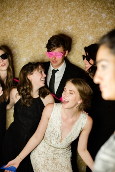 Fun wedding photo booth props Rainey Street Austin Wedding at Hotel Van Zandt Made with Magmod