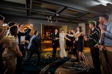 Indoor wedding exit ideas Rainey Street Austin Wedding at Hotel Van Zandt Made with Magmod