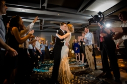 Indoor wedding exit ideas Rainey Street Austin Wedding at Hotel Van Zandt Made with Magmod