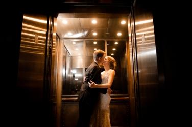 Hotel Wedding exit ideas in an elevator Rainey Street Austin Wedding at Hotel Van Zandt Made with Magmod