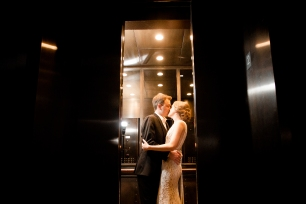 Hotel wedding exit ideas Rainey Street Austin Wedding at Hotel Van Zandt Made with Magmod