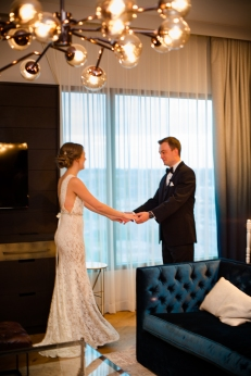 First Look Ideas Rainey Street Austin Wedding at Hotel Van Zandt Made with Magmod