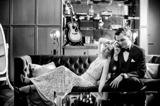 Creative Wedding Portraits Rainey Street Austin Wedding at Hotel Van Zandt Made with Magmod