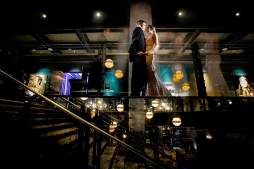 Timelapse wedding portrait Rainey Street Austin Wedding at Hotel Van Zandt Made with Magmod