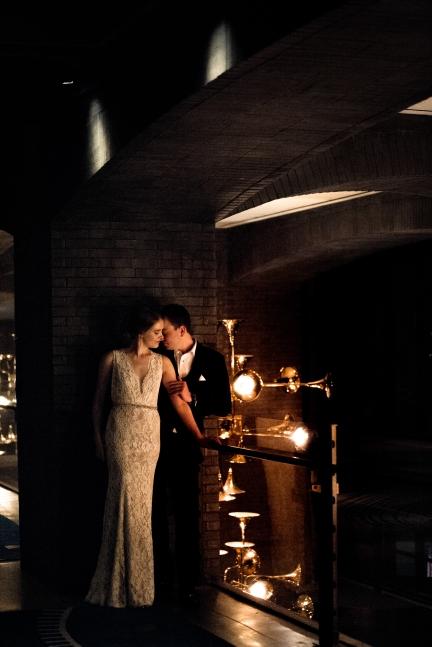 Romantic wedding portraits Rainey Street Austin Wedding at Hotel Van Zandt Made with Magmod