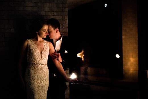 Romantic intimate wedding portraits Rainey Street Austin Wedding at Hotel Van Zandt Made with Magmod