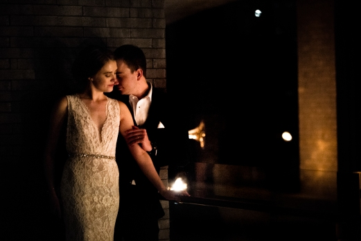 Romantic intimate wedding portraits Rainey Street Austin Wedding at Hotel Van Zandt Made with Magmod