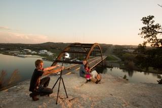 @PhotographerAmy Elizabeth Birdsong Photography 360 Bridge Pennybacker Overlook Engagement Session Austin Hiking Trails-27