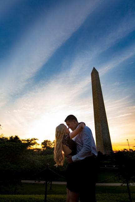 @PhotographerAmy Elizabeth Birdsong Photography Washington DC Engagement Photography by National Monuments-31