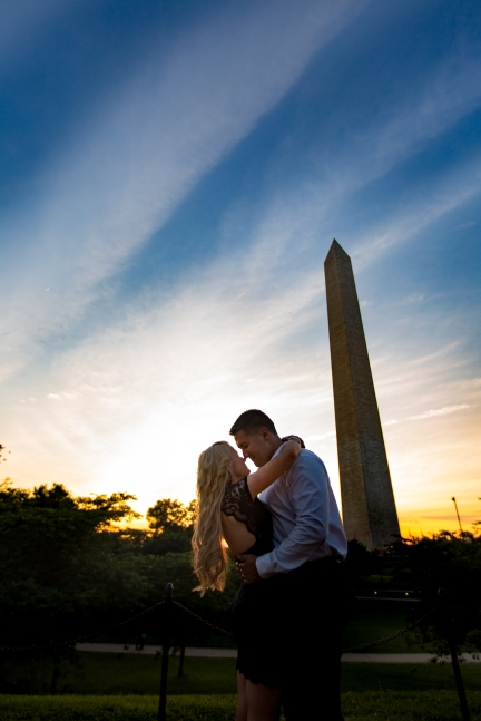 @PhotographerAmy Elizabeth Birdsong Photography Washington DC Engagement Photography by National Monuments-31